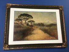 Large Antique Landscape Watercolor Signed E. Adams Great Frame
