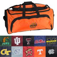 NCAA Heavy Duty Duffle Bag, Sport Bag, Gym Bag, Travel Bag w/ College Team Logo