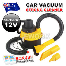 Portable Handheld Car Vacuum Cleaner 12V Vehicle Auto Dust Wet & Dry Yellow NEW