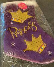 NEW Purple Princess Funky Christmas Stockings (39cm x 18cm)