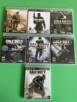 PS3 Call Of Duty Game Lot Of 7(MW-2,3 & 4,World At War,Ghosts,Ops 2,Adv.Warfare)