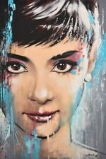 Audrey Hepburn by pollard 8x12 signed celebrity pop art print