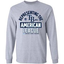 Men's Tampa Bay Rays 2020 American League Champions Long Sleeve T-Shirt S-4XL