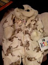 NWT ANDY JOHNS THE KIDS DOGGIE HOODED SNOWSUIT POLY FILL  SIZE 6- 9 MONTHS