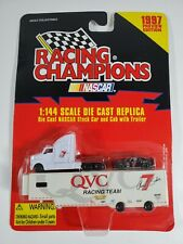 Racing Champions NASCAR Stock Car Cab Trailer #7 QVC 1:144 Scale Die cast Micro