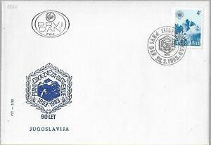 ORIGINAL FDC 1983 Alpine Association of Slovenia Planinska zveza Tourism Postal
