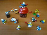 Figurine PVC schleich : VILLAGE + 11 SCHTROUMPF smurf puffi pituffo