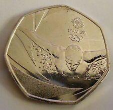 Equipo Olímpico GB Natación 2016 50p cincuenta peniques