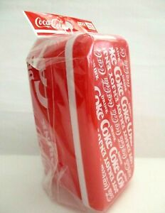 Coke Cola  Red Lunch Box Bento Double with Chopsticks DAISO JAPAN