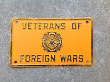 VETERANS OF FOREIGN WARS - BOOSTER LICENSE PLATE - THE UNITED STATES OF AMERICA