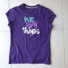 Nike We Run Things Cotton Stretch Knit Top Girls Sz L