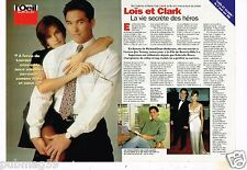 Coupure de presse Clipping 1996 (2 pages) Lois et Clark Teri Hatcher Dean cain