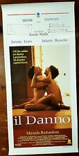 D130-LOCANDINA, IL DANNO, MIRANDA RICHARDSON, UN FILM DI LOUIS MALLE, 1° ED.1992