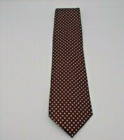 "Pierre Cardin Men's Neck Tie Black w/Red & White Polka Dot Pattern Silk 57"" x 4"""