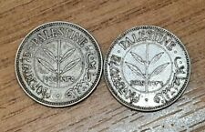 Palestine British Mandate 1935 1939 50 Mils .720 Silver Coins