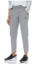 Under Armour Womens Rival Fleece Soft Tapered grey Joggers Trousers medium