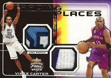 2001-02 Vince Carter Fleer Focus TRADING PLACES GW JERSEY PATCHES #10/50  Rare