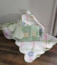 Pottery Barn Nursery Set Green Quilted Floral