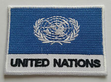 NATIONAL OLYMPIC COUNTRY FLAG (SMALL) SEW ON / IRON ON PATCH:- UNITED NATIONS