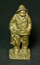 Vintage Littco Cast Brass Old Salt Fisherman Doorstop 1930's