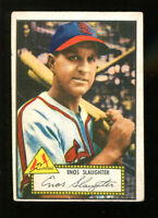 Enos Slaughter 1952 Topps #65 Red Back Cardinals VG/Ex 18486