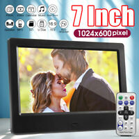 """7"""" Digital Photo Frame Electronic Picture Album MP3 Player With Remote"""