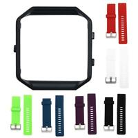Black Frame+Soft Silicone wrist Watch band Replace Sport Strap For Fitbit Blaze