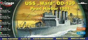 USS WARD DD-139 - PEARL HARBOR 1941 (U.S. WICKES-CLASS DESTROYER) 1/400 MIRAGE