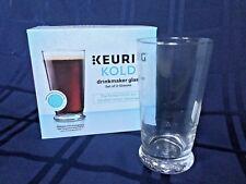 Keurig Kold Drinkmaster Set of 2 Glasses NIB