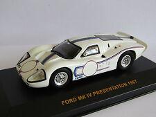 IXO FORD MK IV PRESENTATION CAR 1967 WHITE 1/43 GTM009