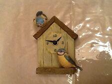 Marjolein Bastin Bird House Clock Nature's Sketchbook Hallmark -Works