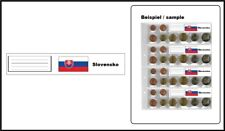 5 Look 1-7395-4-SLK Country Labels Flags Slovakia For coin sheets 1-7395-4
