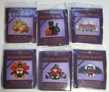LOT of 6 MILL HILL AUTUMN HARVEST Glass Bead Counted Cross Stitch KITS 2015