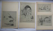 More details for art postcard vintage art sketches from palestine by wal paget old set 4