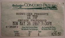Zz Top/George Thorogood Concert Ticket Stub Concord Pavillion Ca. 1997