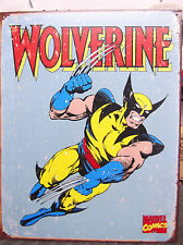 WOLVERINE VINTAGE LOOK COMIC BOOK DECOR Tin Metal Sign Super Hero NEW