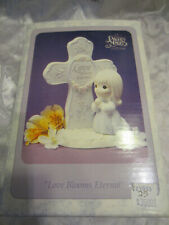 Precious Moments Love Blooms Eternal Cross Prayer 1995 Porcelain Figure