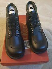 Kickers Classic Kick Hi Boys / Girls Boots Black Leather Ankle Shoes Size UK 6