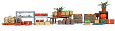 HO Scale - Market Stalls Accessories