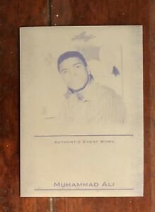 Muhammad Ali Cassius Clay 2011 Leaf #EW-34 Yellow Printing Plate, POP 1, 1/1