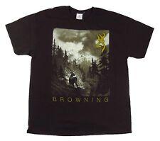 NWT Browning Men's Dreamscape Tee Brown Short Sleeve Buckmark T-Shirt Size XL