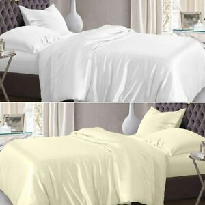 Hotel Quality 100% Egyptian Cotton Duvet Quilt Cover Single Double Super King