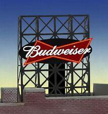 Budweiser Beer Animated Billboard #33-8815 Z or N Scale Miller Engineering