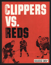 1964-65 THE BALTIMORE CLIPPERS vs THE PROVIDENCE REDS AHL HOCKEY GUIDE