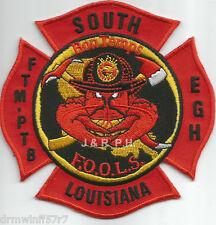 "South Louisiana - F.O.O.L.S.  ""FTM-PTB-EGH""  (4"" x 4"" size) fire patch"