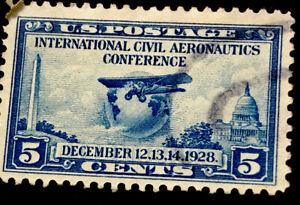 ODZ & ENDZ  10 USED 5¢ - SCOTT#: 650 - AERONAUTICS CONFERENCE ISSUE, GLOBE  1656