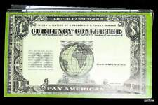 PAN AMERICAN AIRLINES 1958 SOUVENIR CURRENCY CONVERTER EUROPE ASIA MIDDLE EAST $