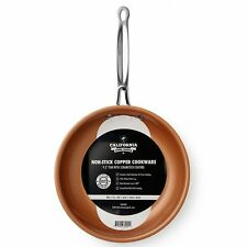 "Non Stick Copper Titanium Steel Frying Pan 9.5"" Ceramic AS SEEN ON TV Chef New"