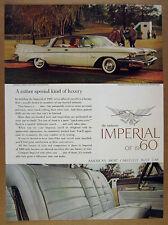 1960 Chrysler Imperial Crown Southampton Sedan color photo vintage print Ad