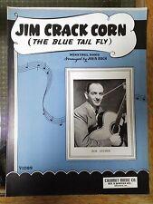 1948 Sheet Music BOB ATCHER Jim Crack Corn (The Blue Tail Fly) Minstrel Song